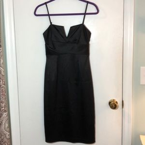 White House Black Market. Black Satin dress